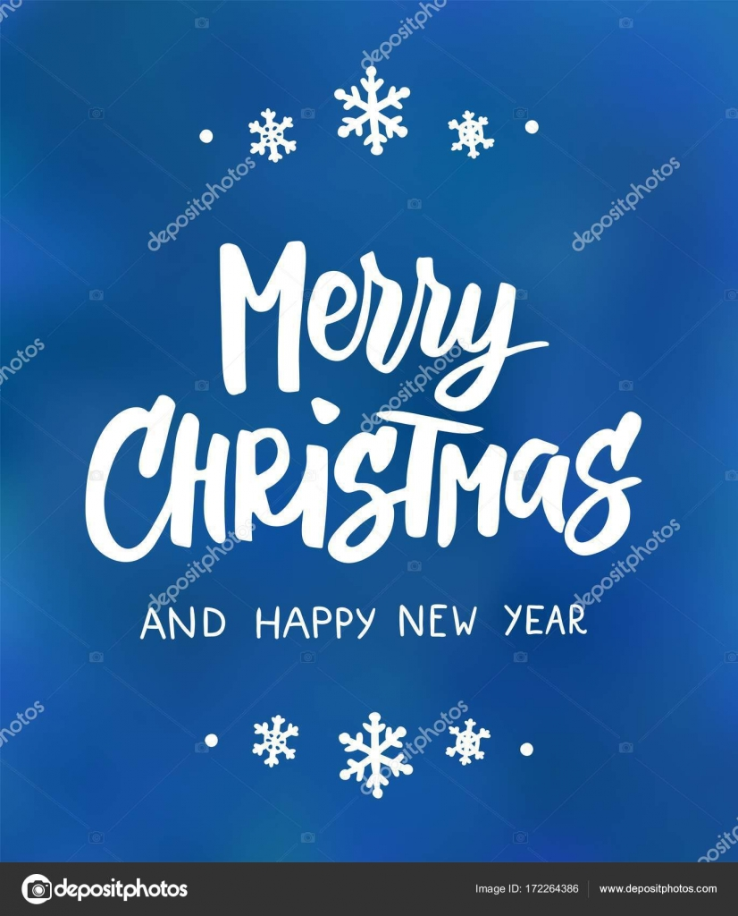 Merry Christmas And Happy New Year Text. Holiday Greetings Quote. Great For Christmas  Gift