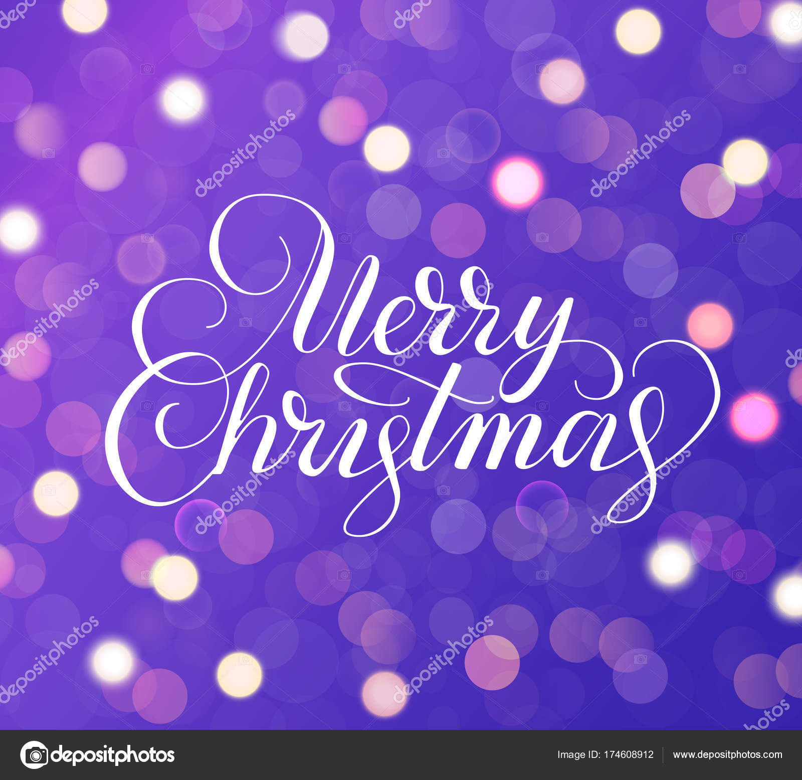 Merry christmas text holiday greetings quote purple background purple background with sparkling glowing lights bokeh effect holiday greetings quote great for christmas and new year cards party posters gift tags m4hsunfo