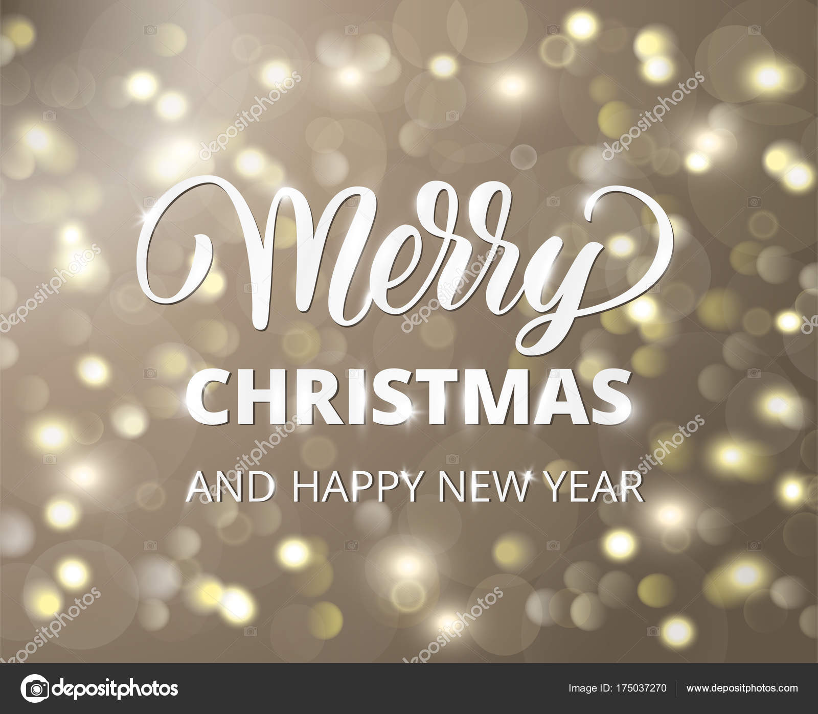 Merry Christmas Text.Merry Christmas Text Holiday Greetings Quote Golden