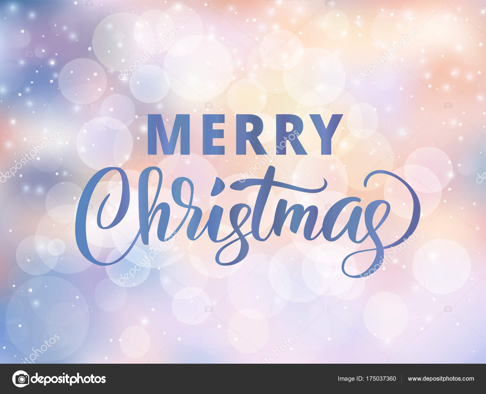 Merry christmas text holiday greetings quote blurred winter holiday greetings quote blurred winter background with falling snow effect m4hsunfo