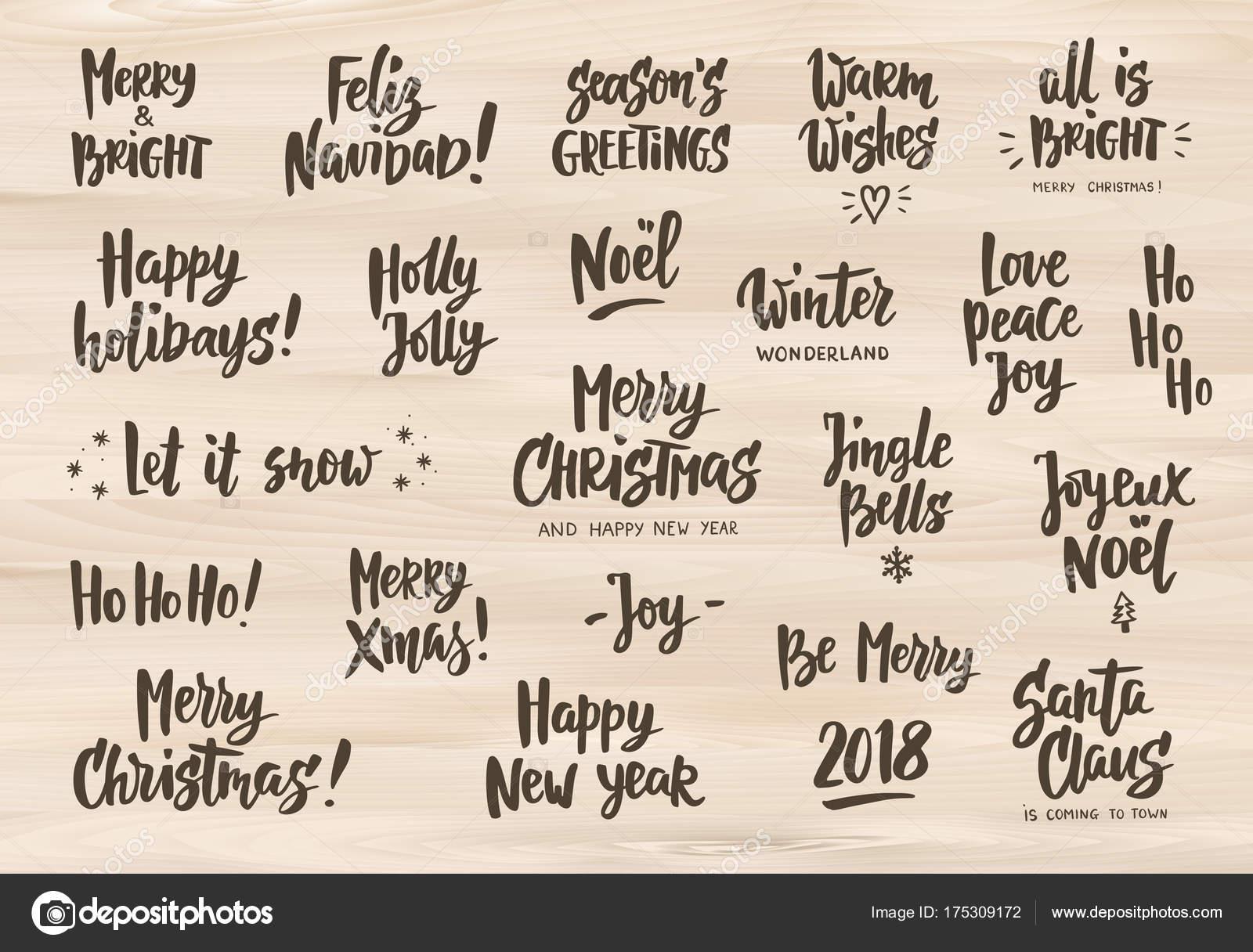 Conjunto De Fiesta Saludo A Frases Y Deseos Texto Dibujado