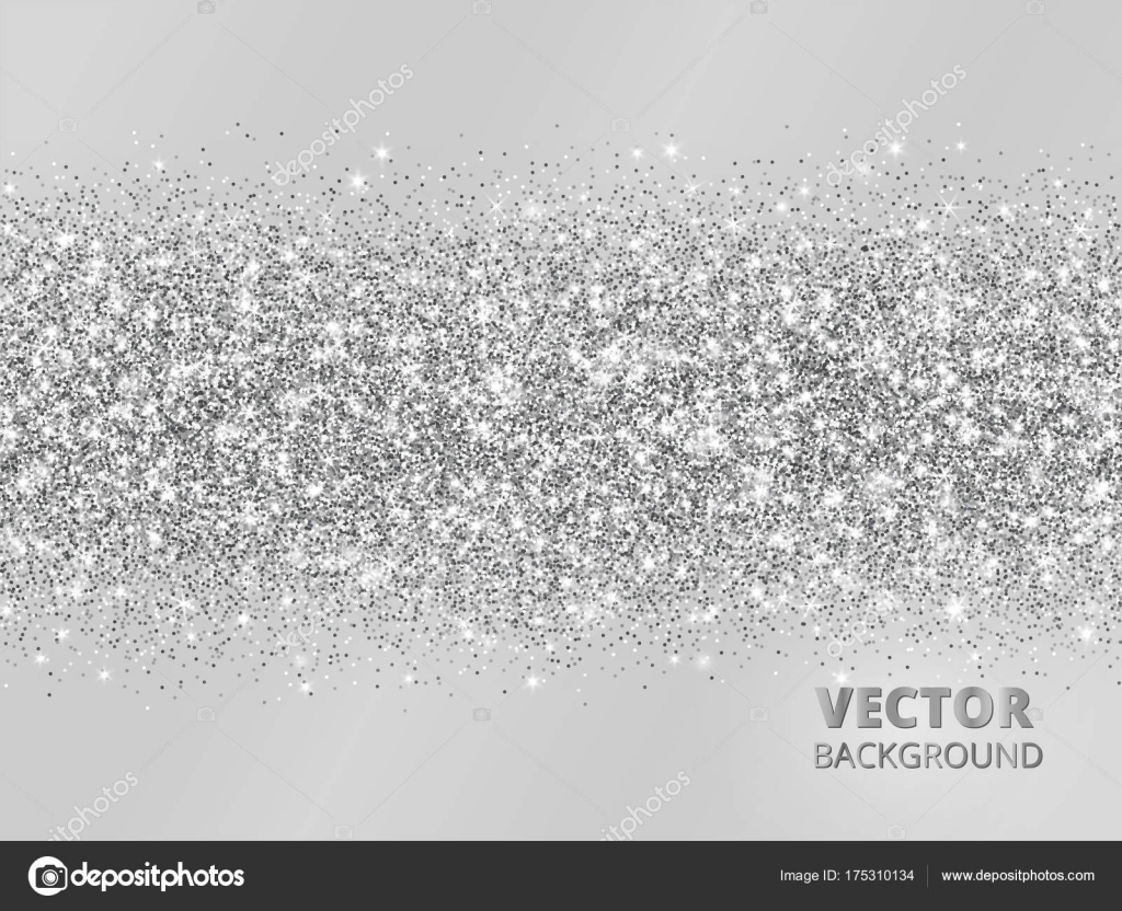 Sfondo Brillantinato Grigio Bordo Di Glitter Scintillanti Su