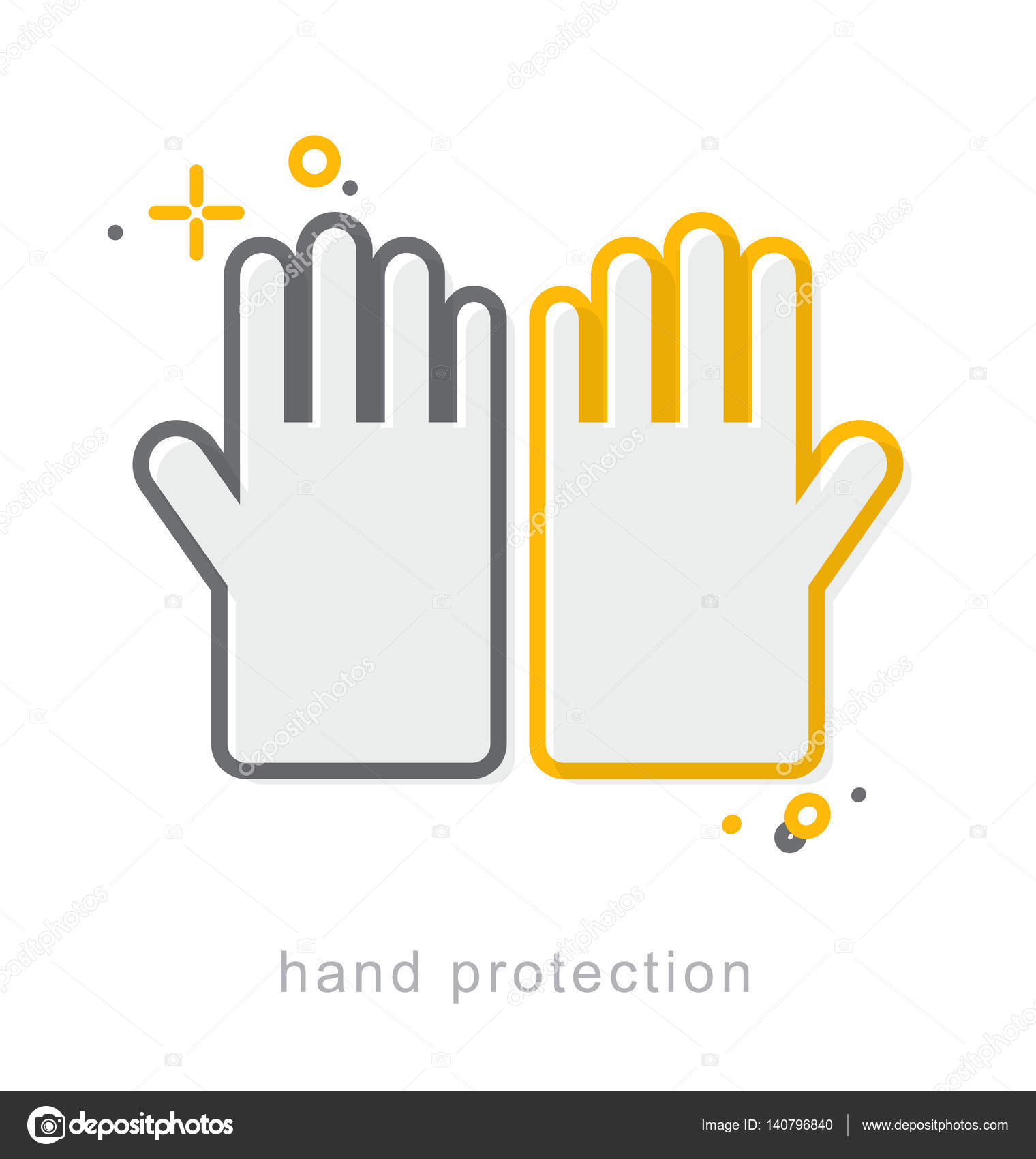 Thin line icons hand protection 3 stock vector thesomeday123 thin line icons linear symbols hand protection vector by thesomeday123 biocorpaavc