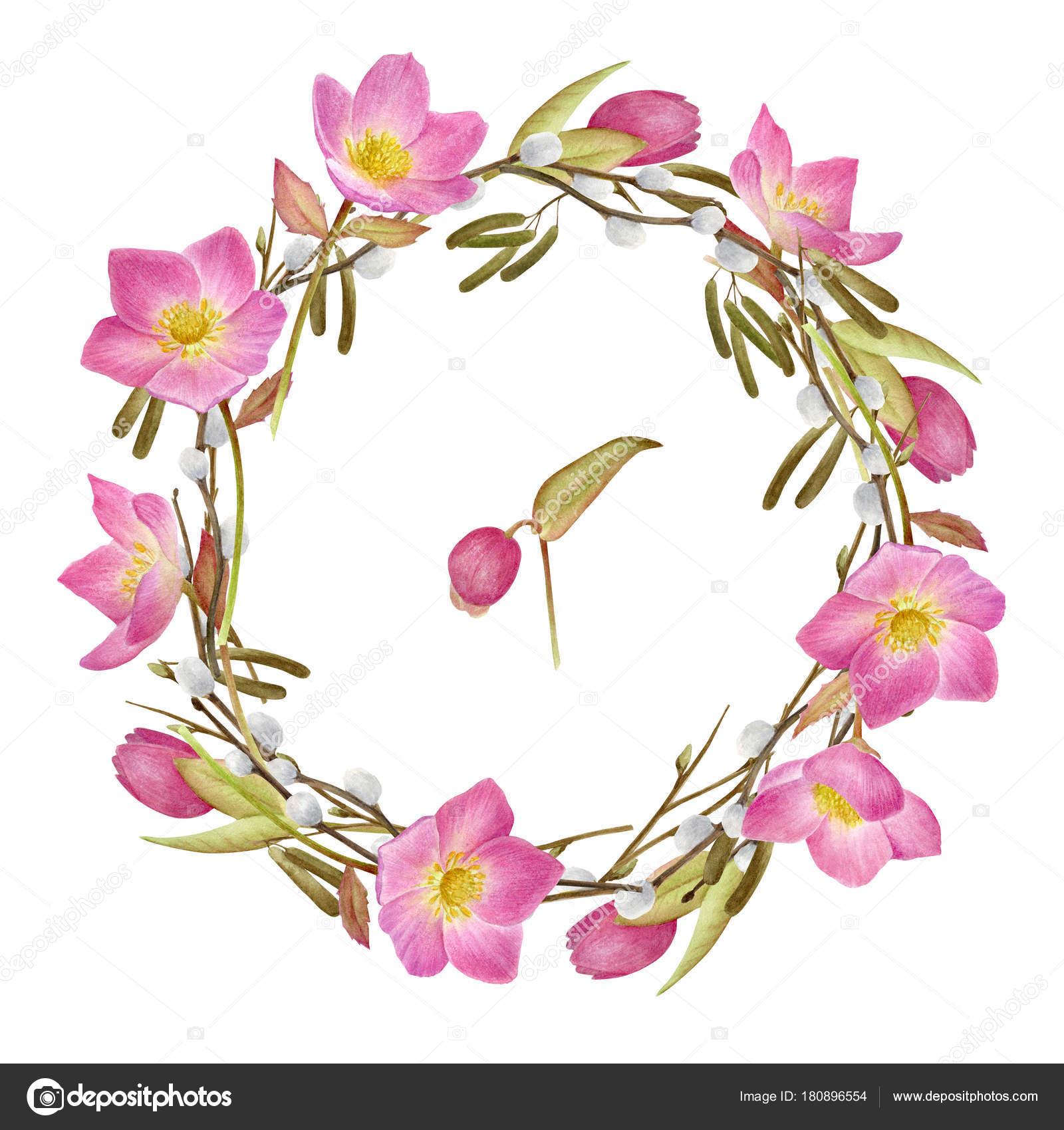 Handbemalt Aquarelle Blumen Set Im Vintage Stil Perfekt Fur