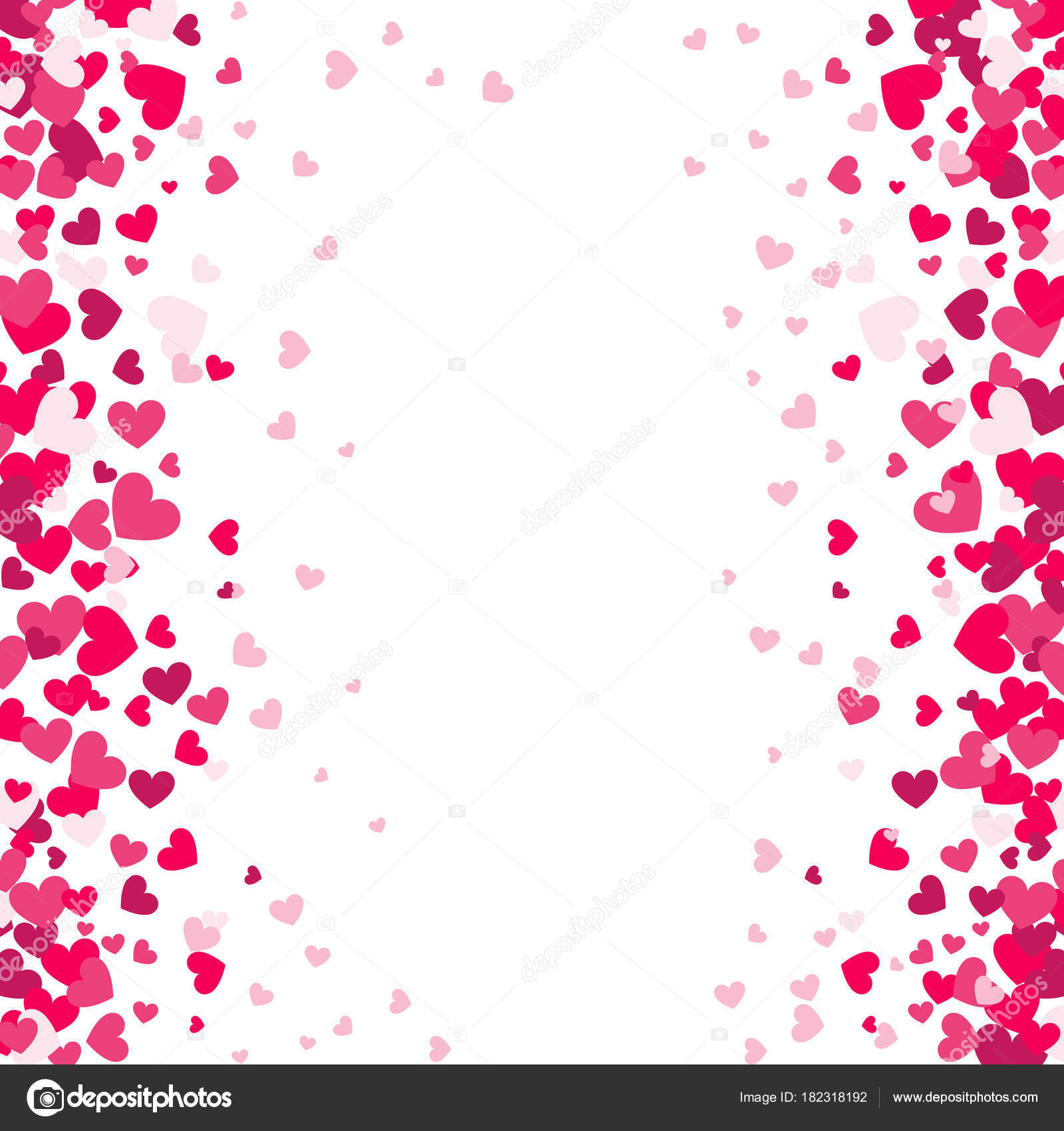 Colorful Background With Heart Confetti Valentines Day