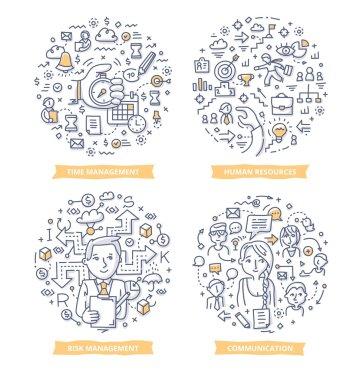 Project Management Doodle Concepts