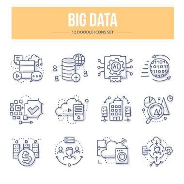 Big Data Doodle Icons