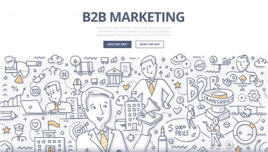 B2B Marketing Doodle Concept