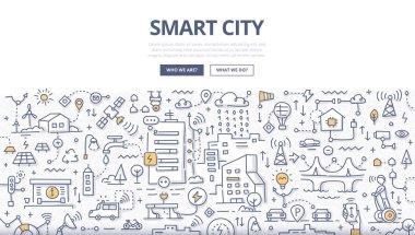 Smart City Doodle Concept