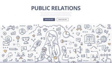 Public Relations Doodle Concept
