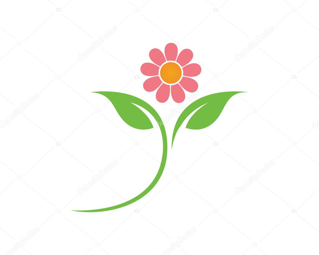 Lotus And Flower Logo And Template Stock Vector Elaelo 125119628
