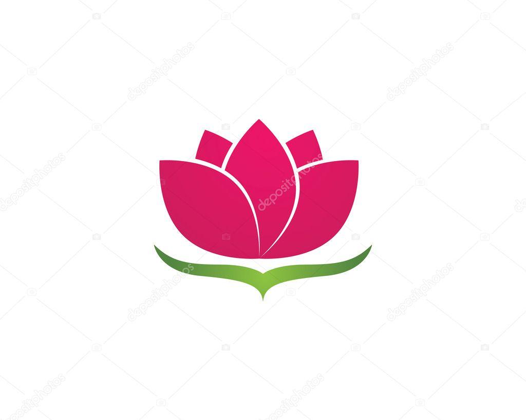 Lotus-Blume Logo und Vorlage — Stockvektor © elaelo #125119880