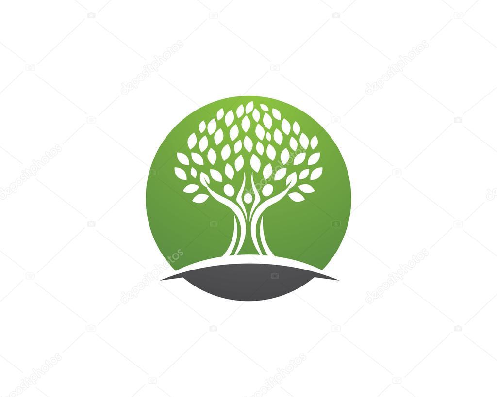 Stammbaum-Logo-Design-Vorlage — Stockvektor © elaelo #126130026