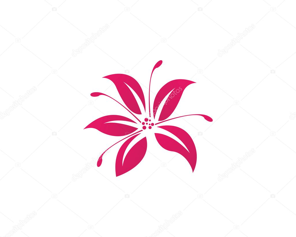 Beauty Vector Flowers Logo Stock Vector C Elaelo 126130138