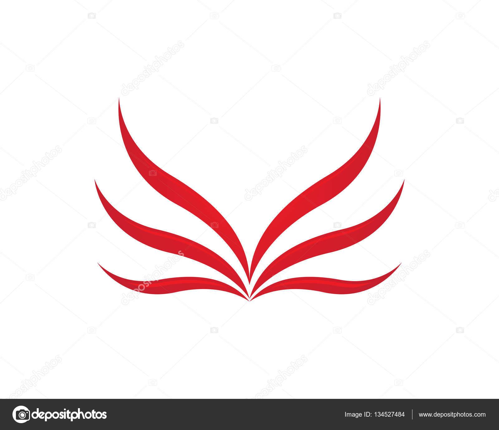Falcon Wing Logo Template Vector Icon Design Stock Vector C Elaelo 134527484