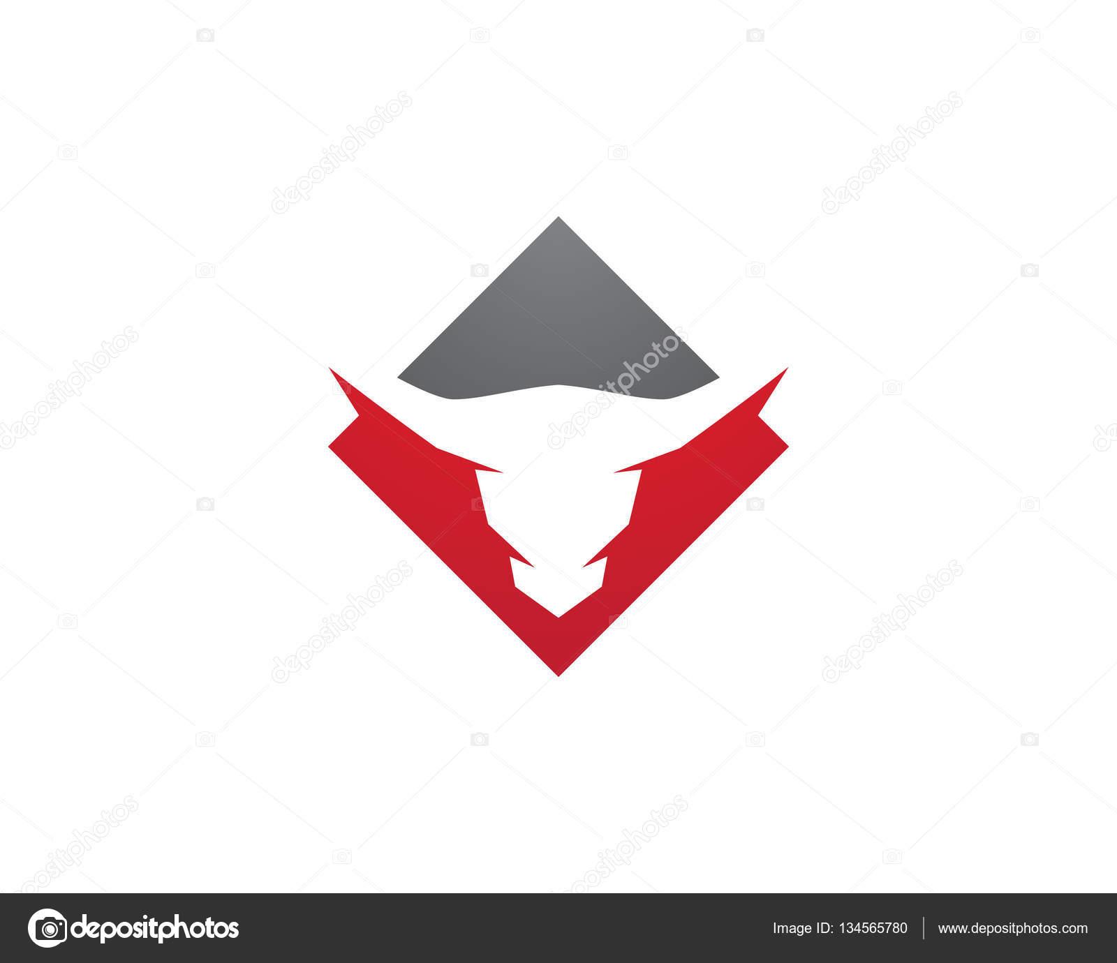 red bull taurus logo template vector icon illustration stock