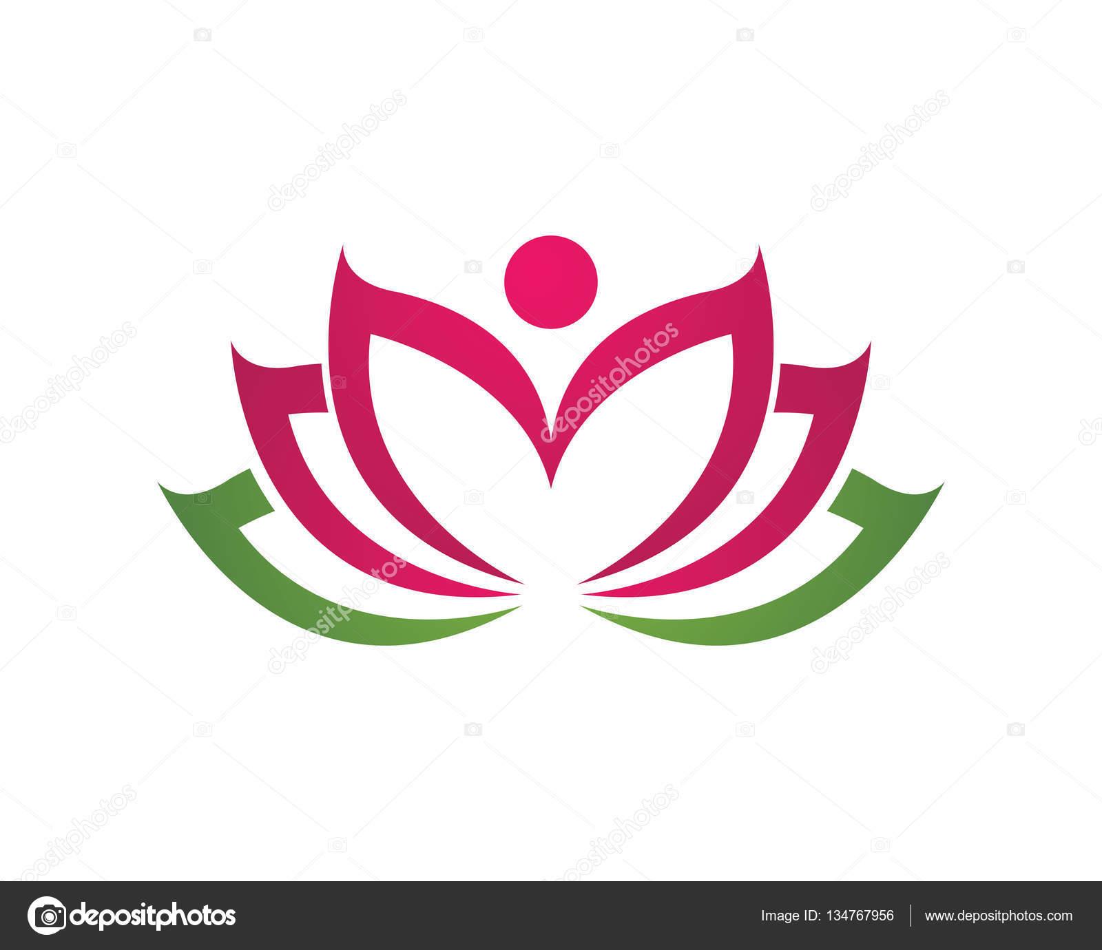 beauty lotus logo template stock vector elaelo 134767956
