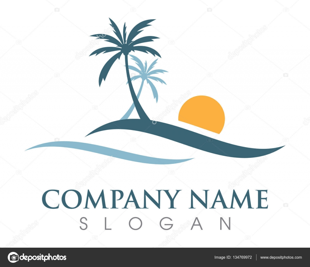 palm tree logo template stock vector elaelo 134769972
