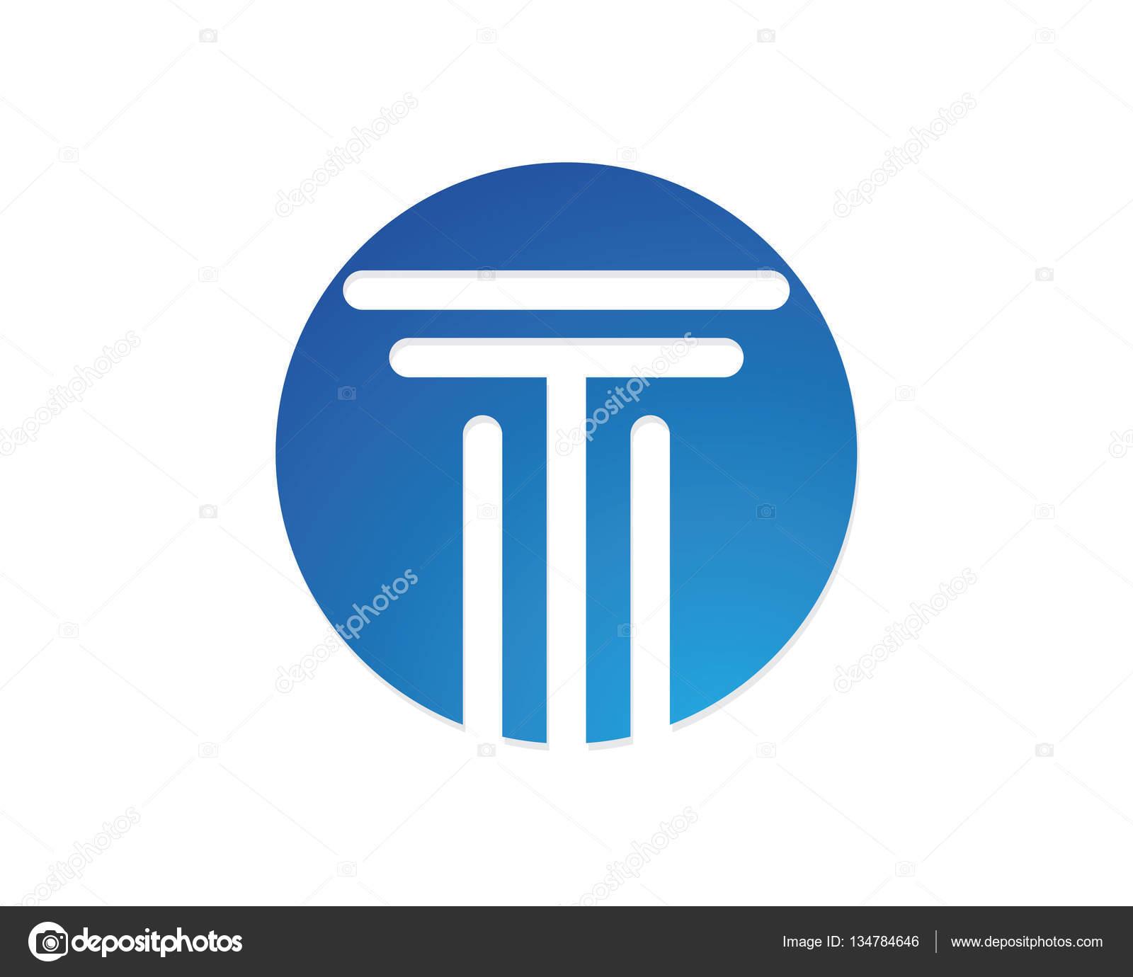 Diseño de icono de vector de plantilla de logotipo del pilar ...