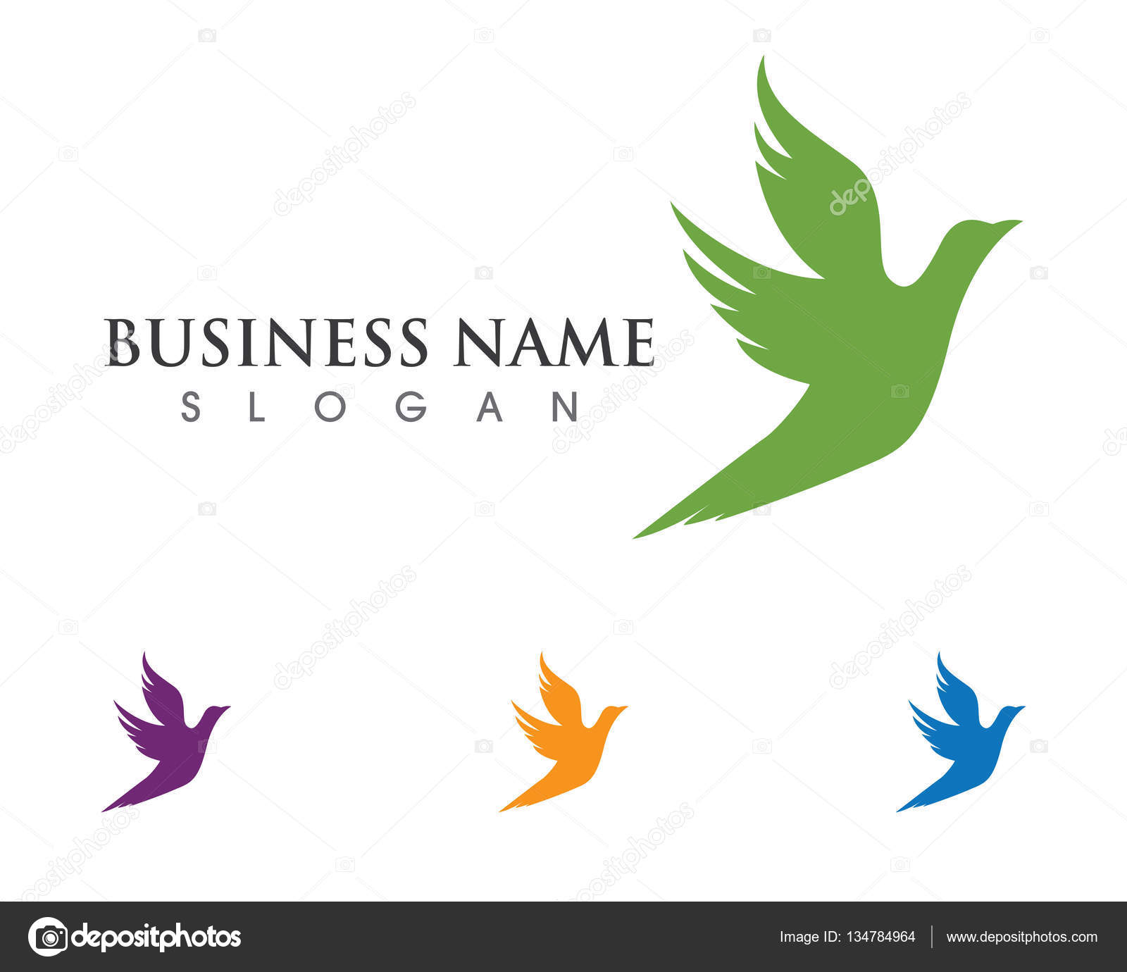 bird wing dove logo template stock vector elaelo 134784964