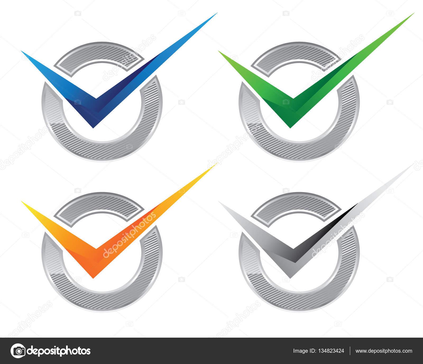 v 文字ロゴのテンプレート ストックベクター elaelo 134823424