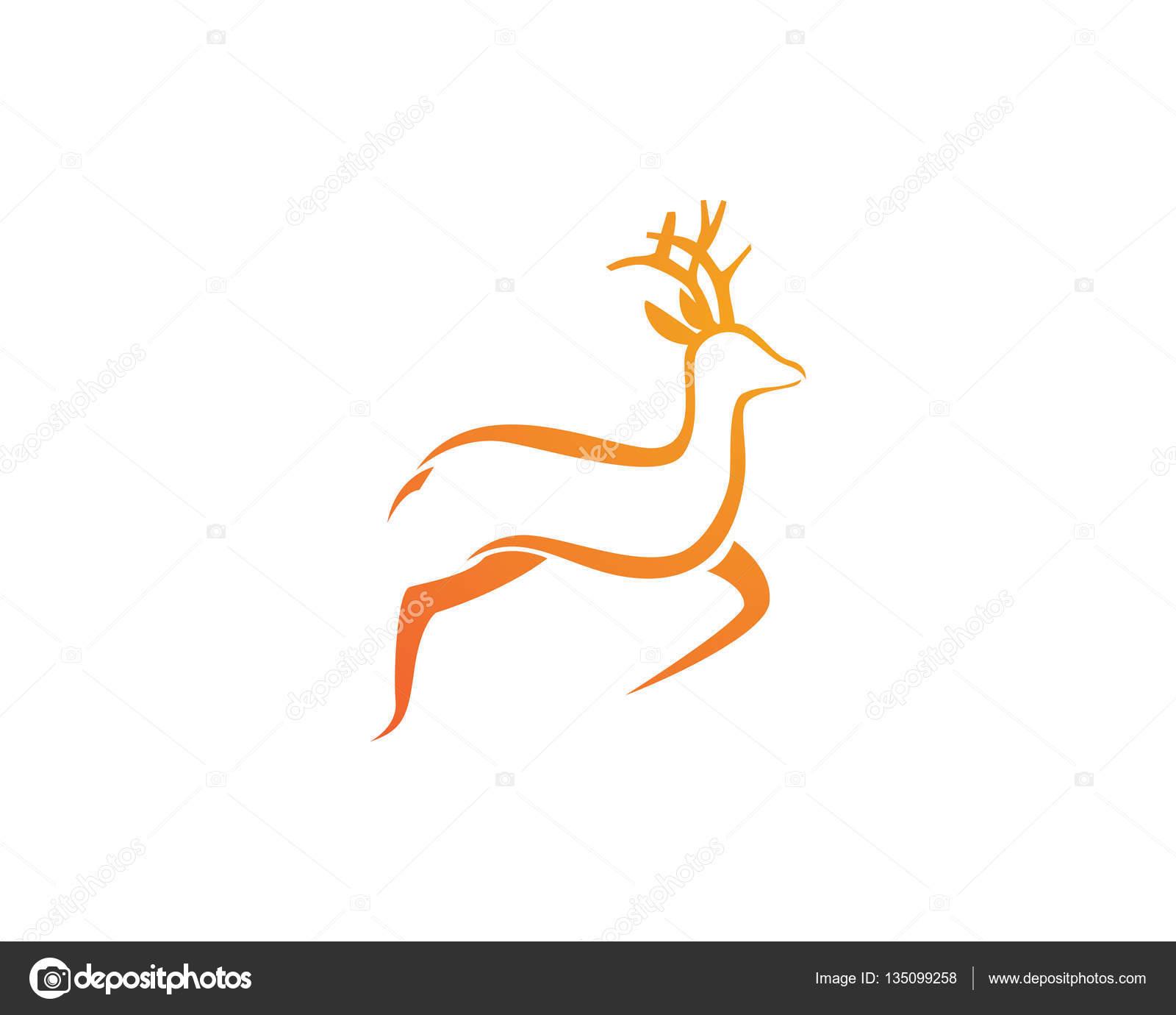 deer logo template stock vector elaelo 135099258