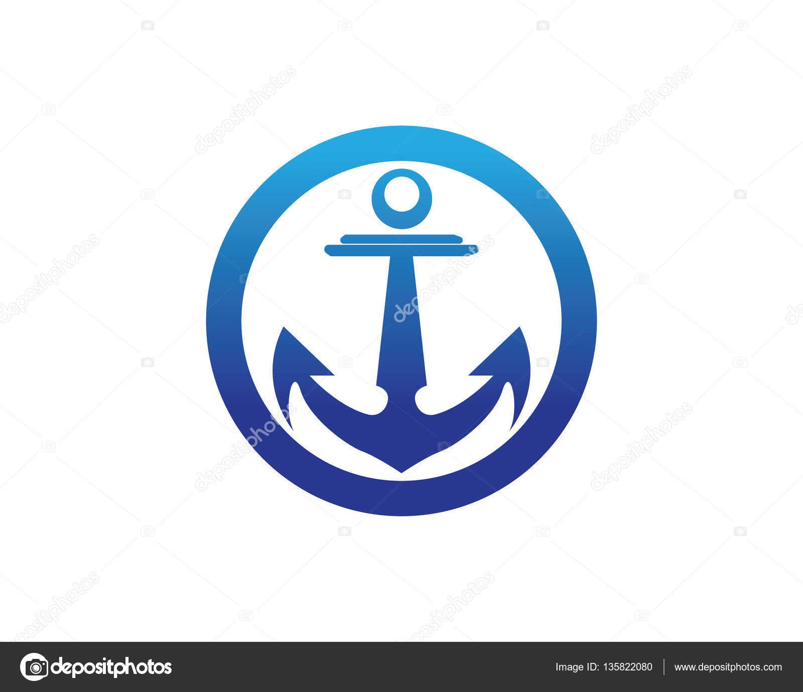 Icono de ancla plantilla de logotipo — Archivo Imágenes Vectoriales ...