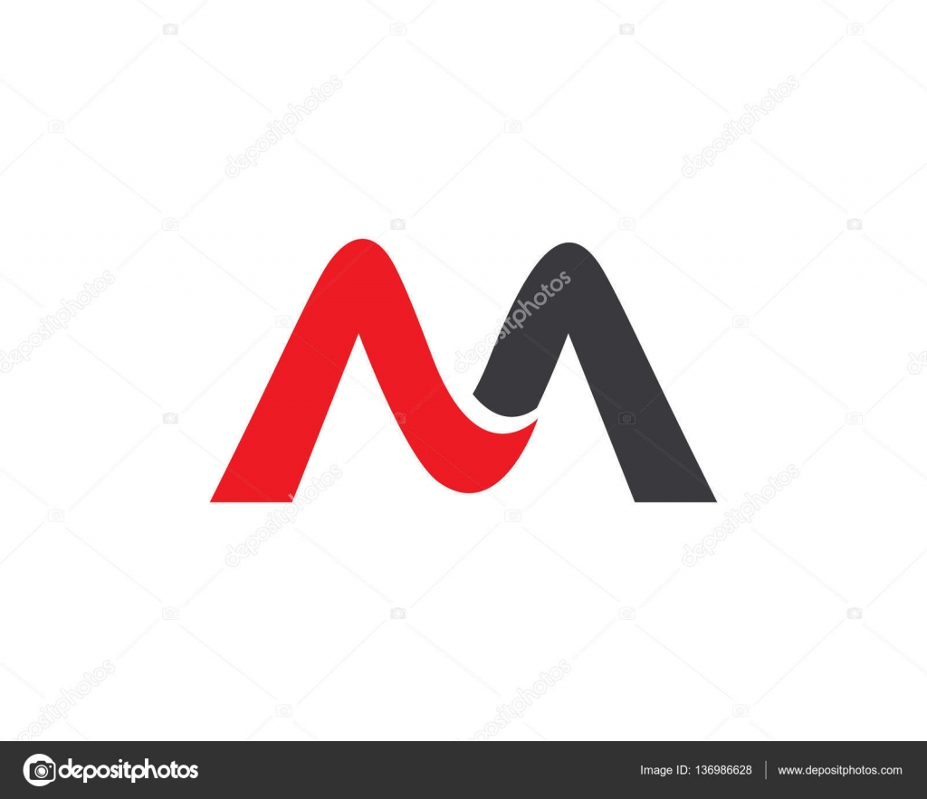 M-Brief-Logo-Design-Vorlage — Stockvektor © elaelo #136986628