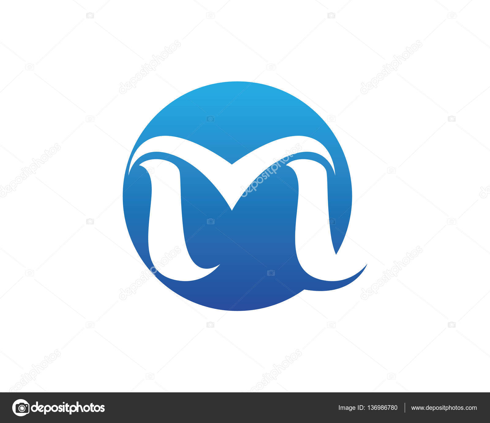 M-Brief-Logo-Design-Vorlage — Stockvektor © elaelo #136986780