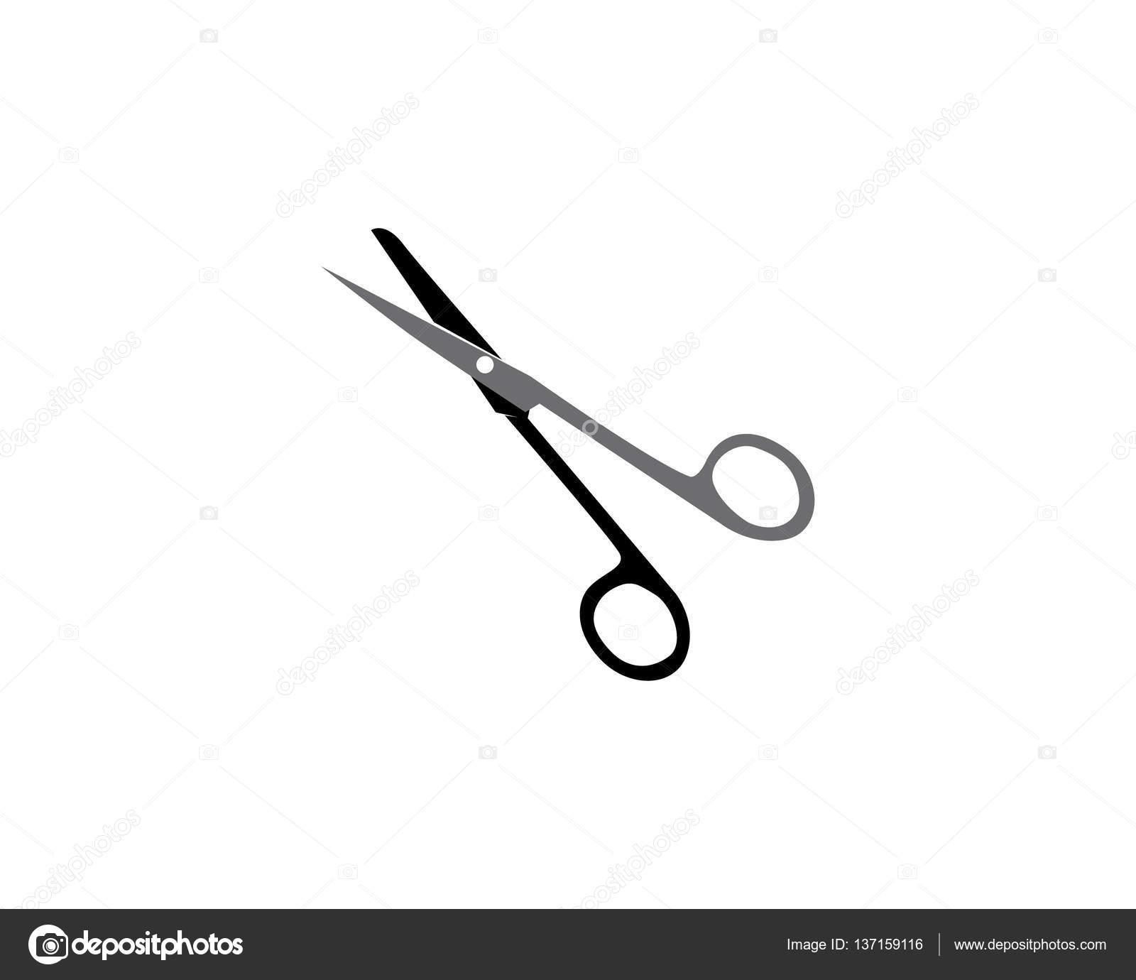 scissors logo template stock vector elaelo 137159116