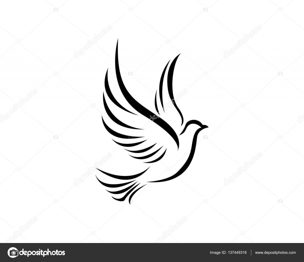 bird wing dove logo template stock vector elaelo 137449318