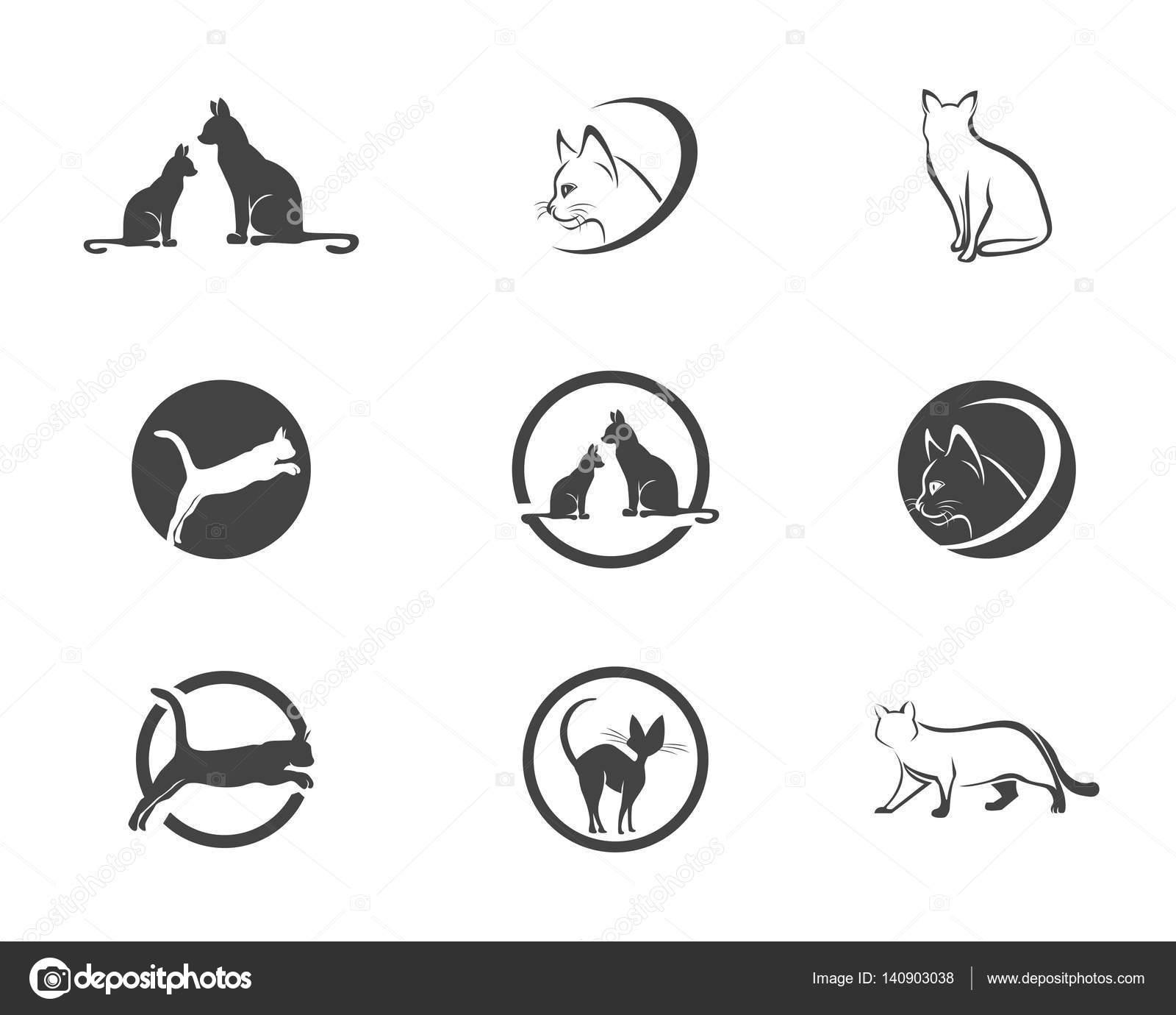 Love Cat Symbols Logo And Symbols Template Stock Vector Elaelo