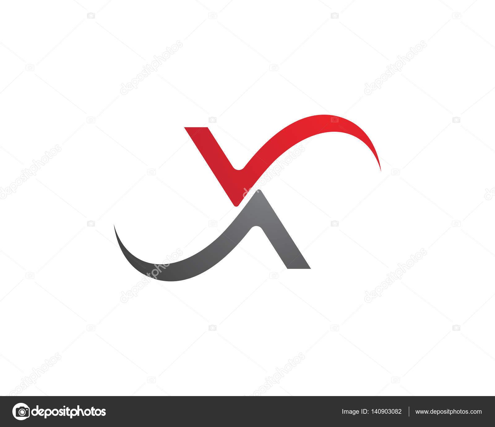 X plantilla de logotipo de la letra — Vector de stock © elaelo ...