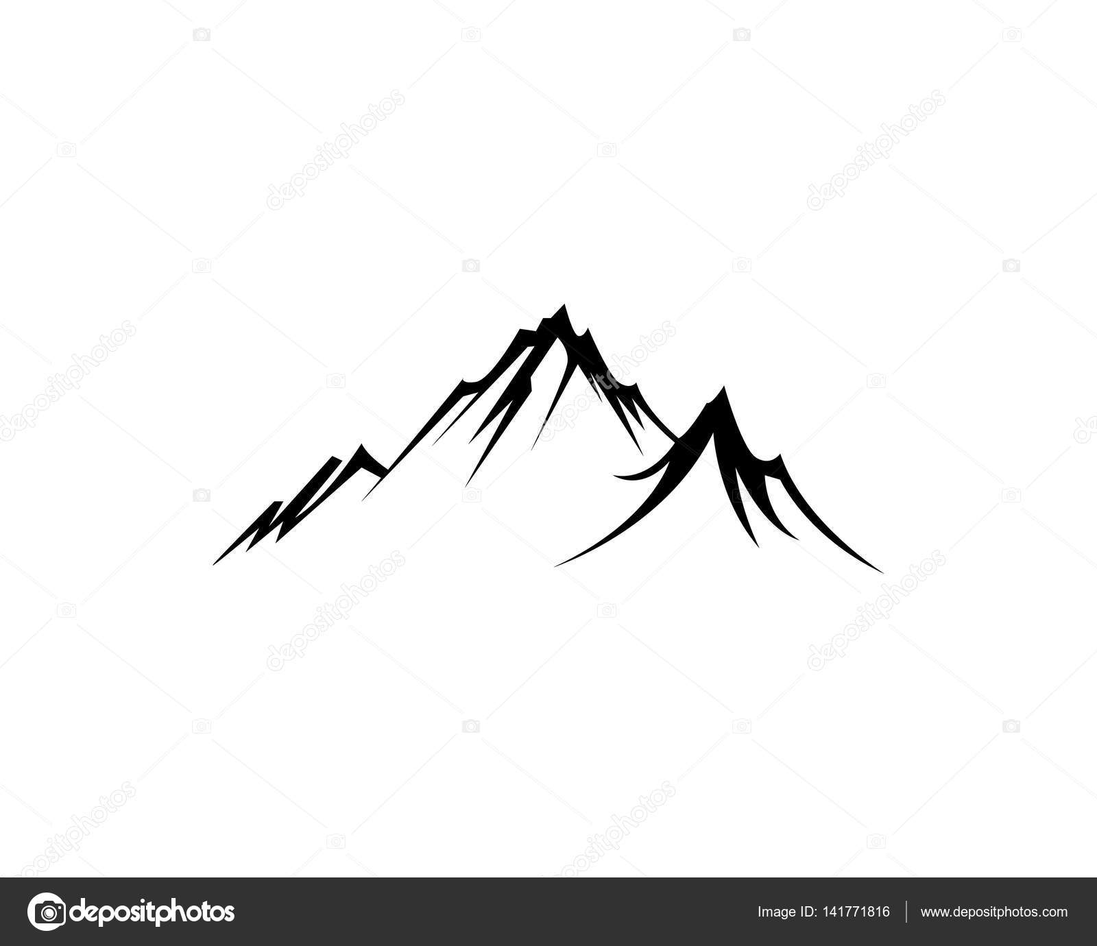 mountain logo template stock vector elaelo 141771816