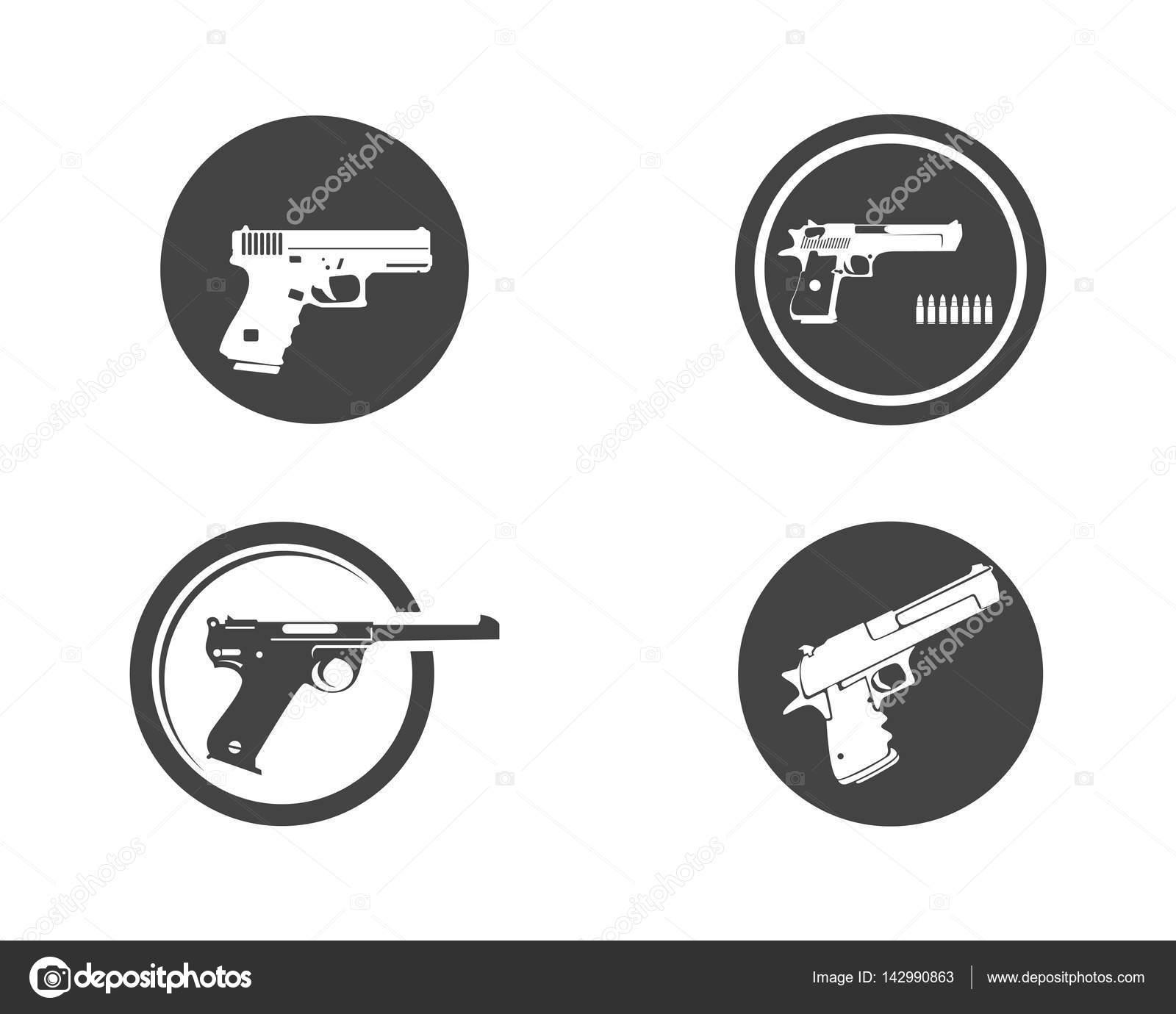 Gun Logo And Symbols Template Icons Stock Vector Elaelo 142990863