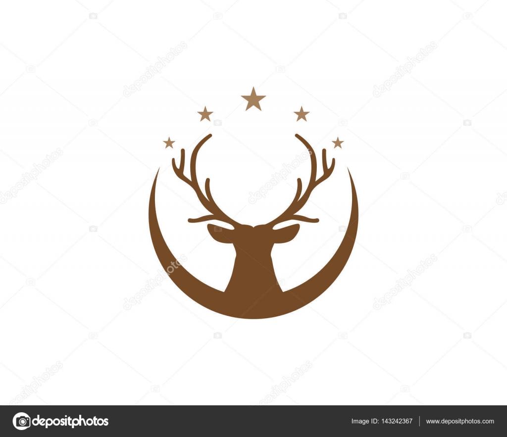Deer Head Logo And Symbols Stock Vector