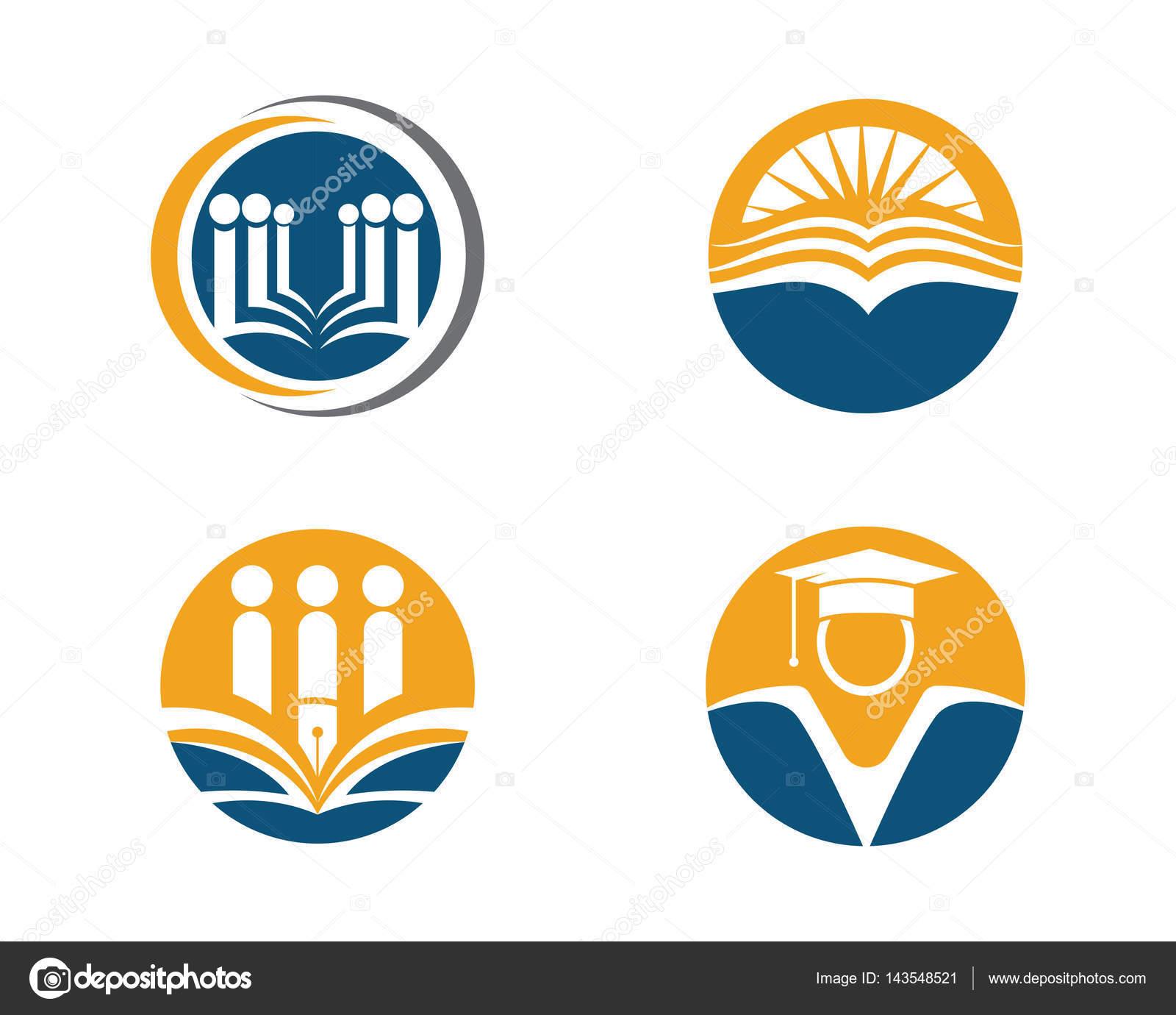 book reading people education logos stock vector elaelo 143548521