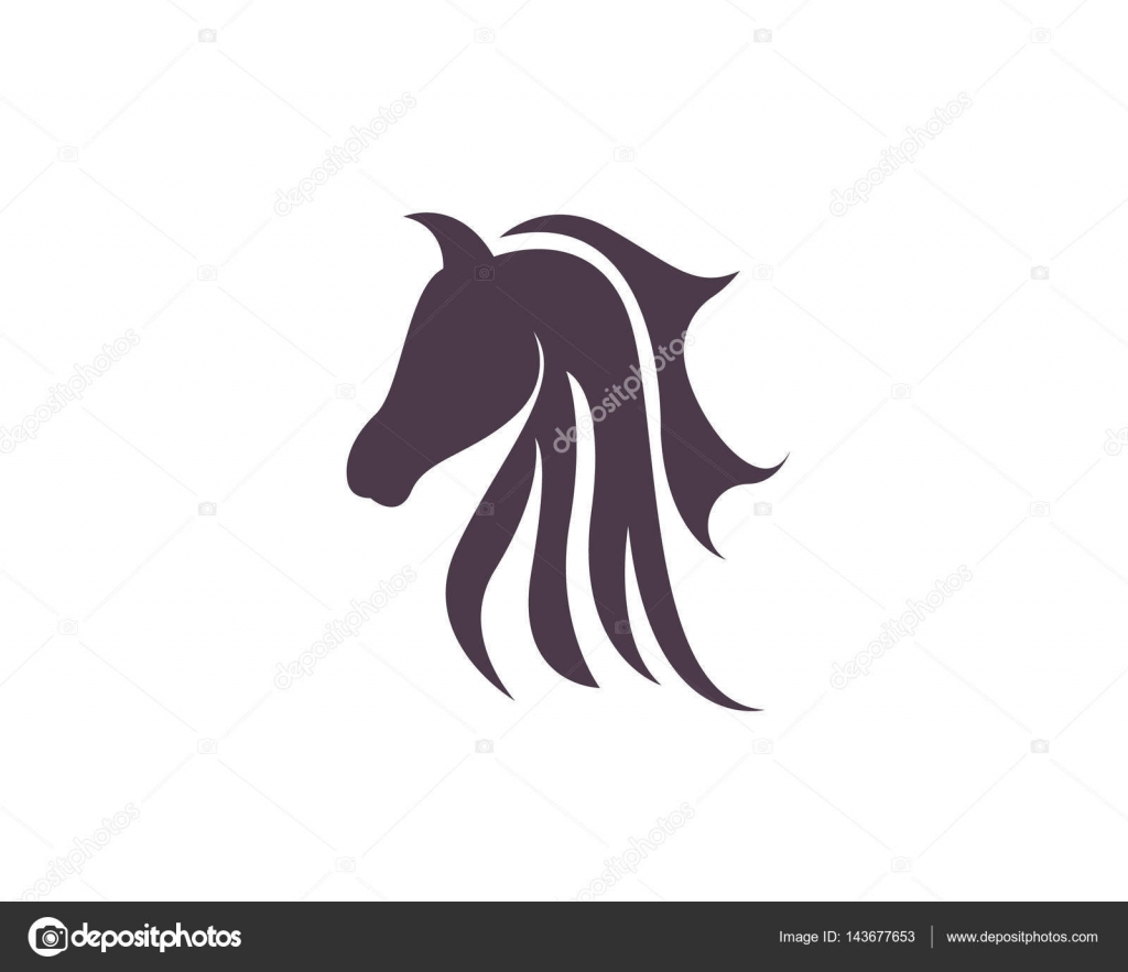 Head Horse Animals Logo And Template Stock Vector Elaelo 143677653