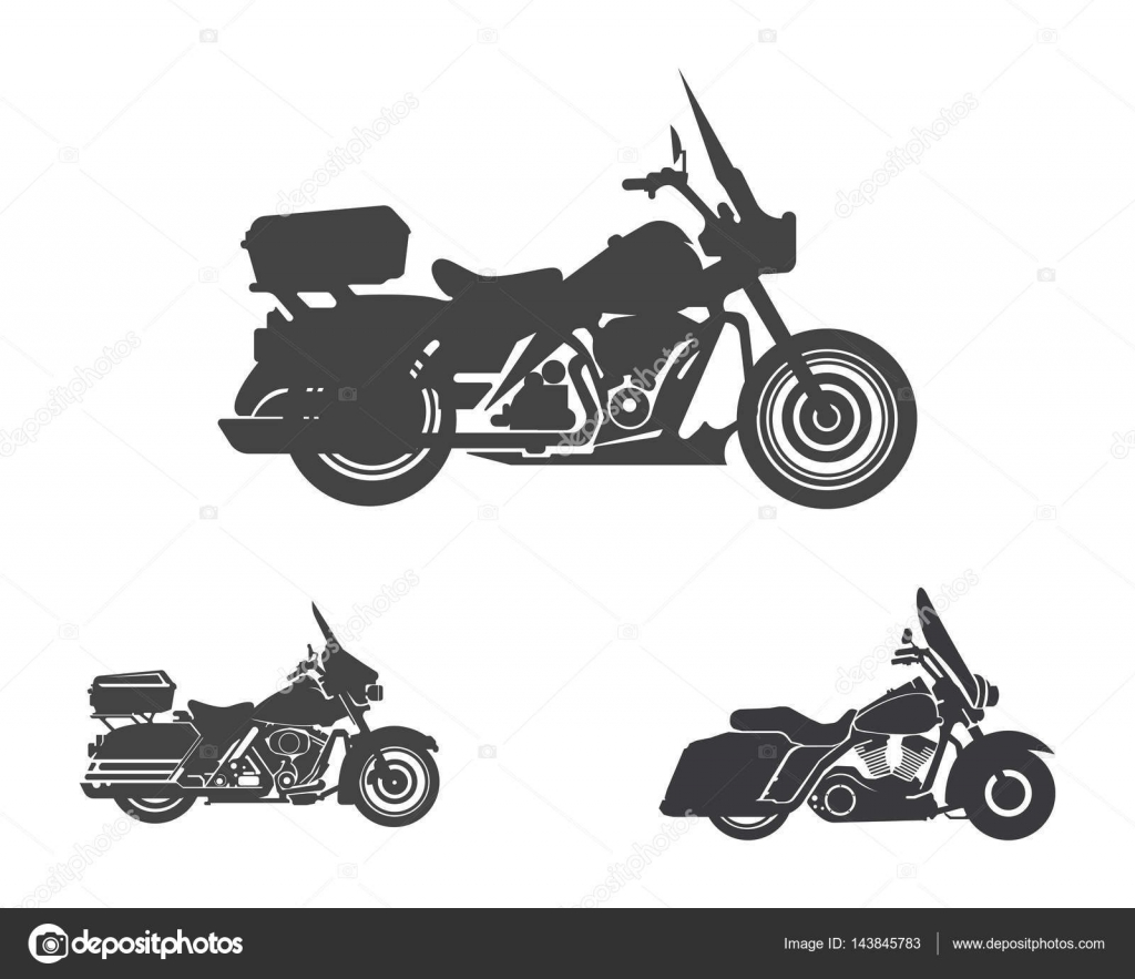 motorcycle harley davidson american style logo and template stock