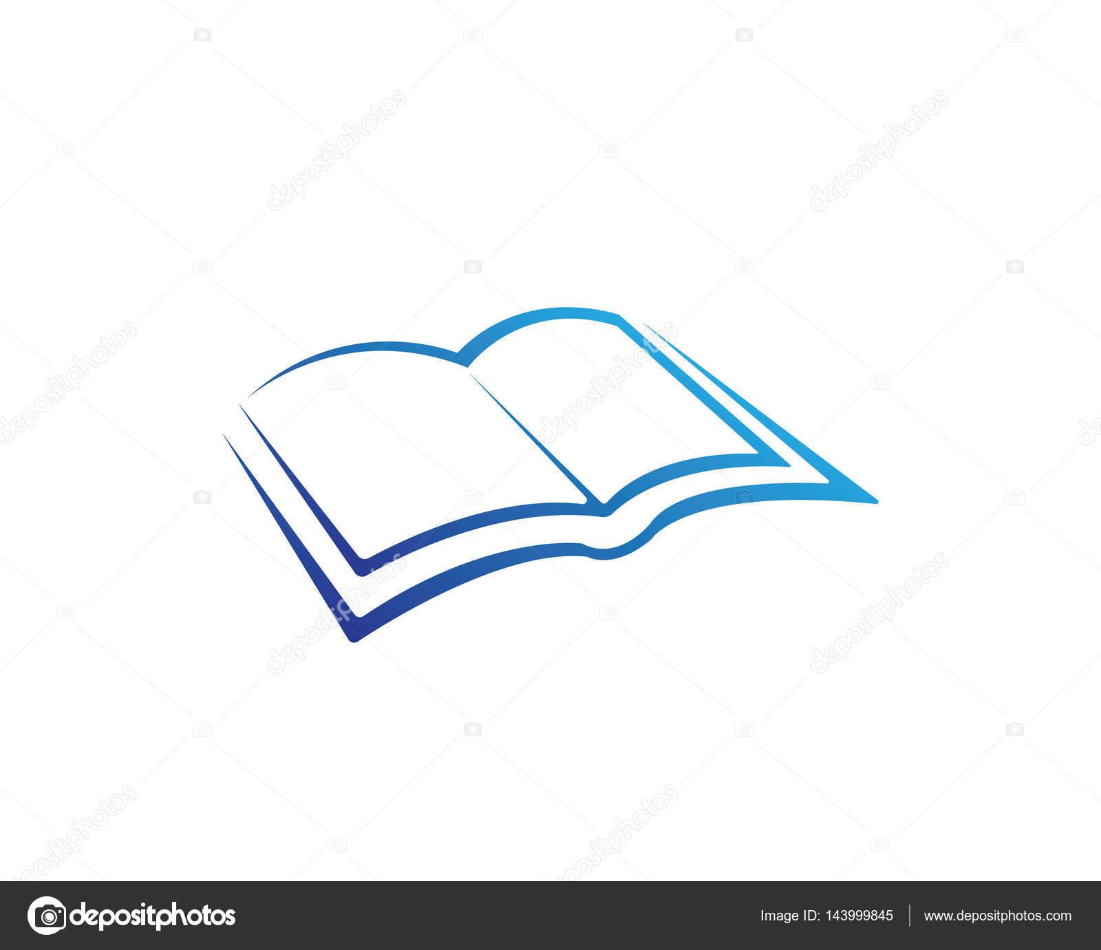 Libro lectura y escritura logo los iconos de la plantilla — Vector ...