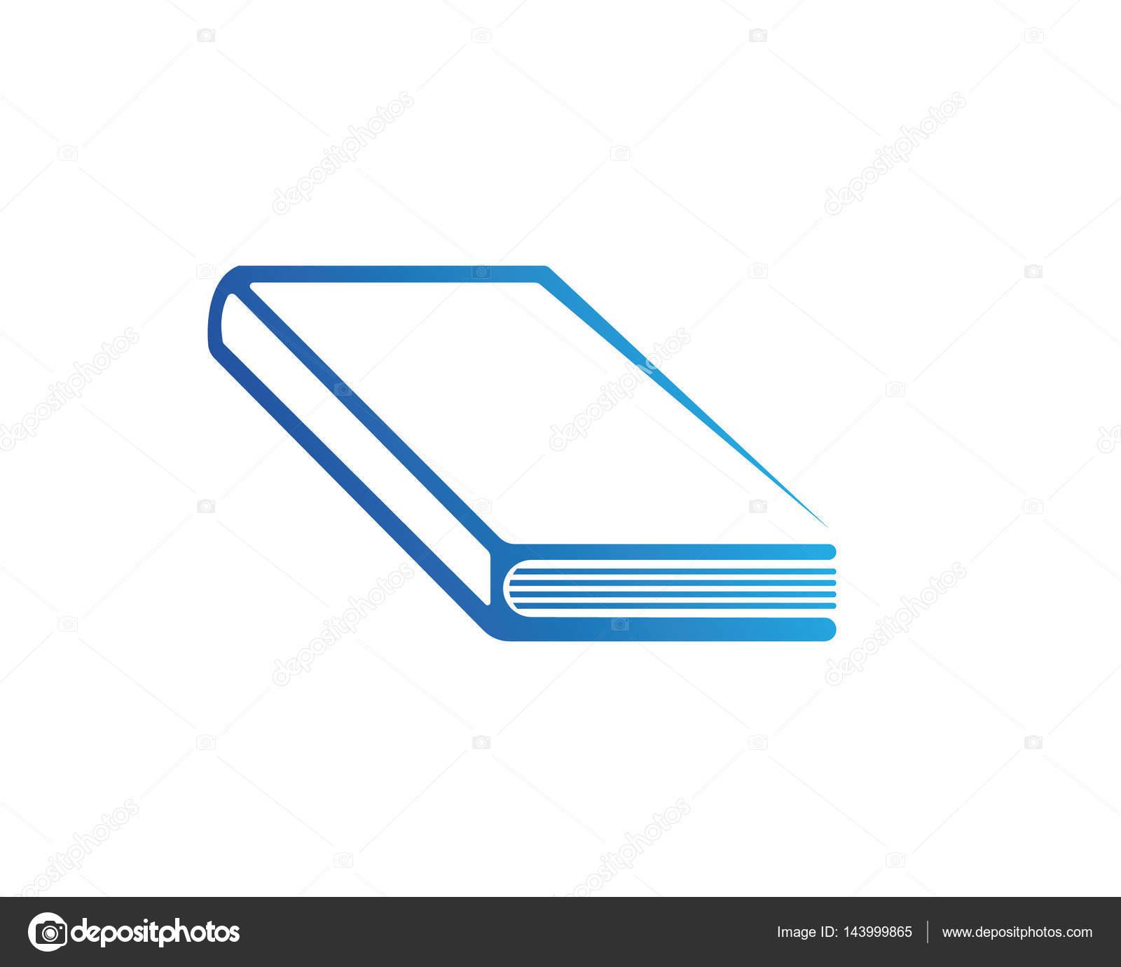 Libro lectura y escritura logo los iconos de la plantilla — Archivo ...
