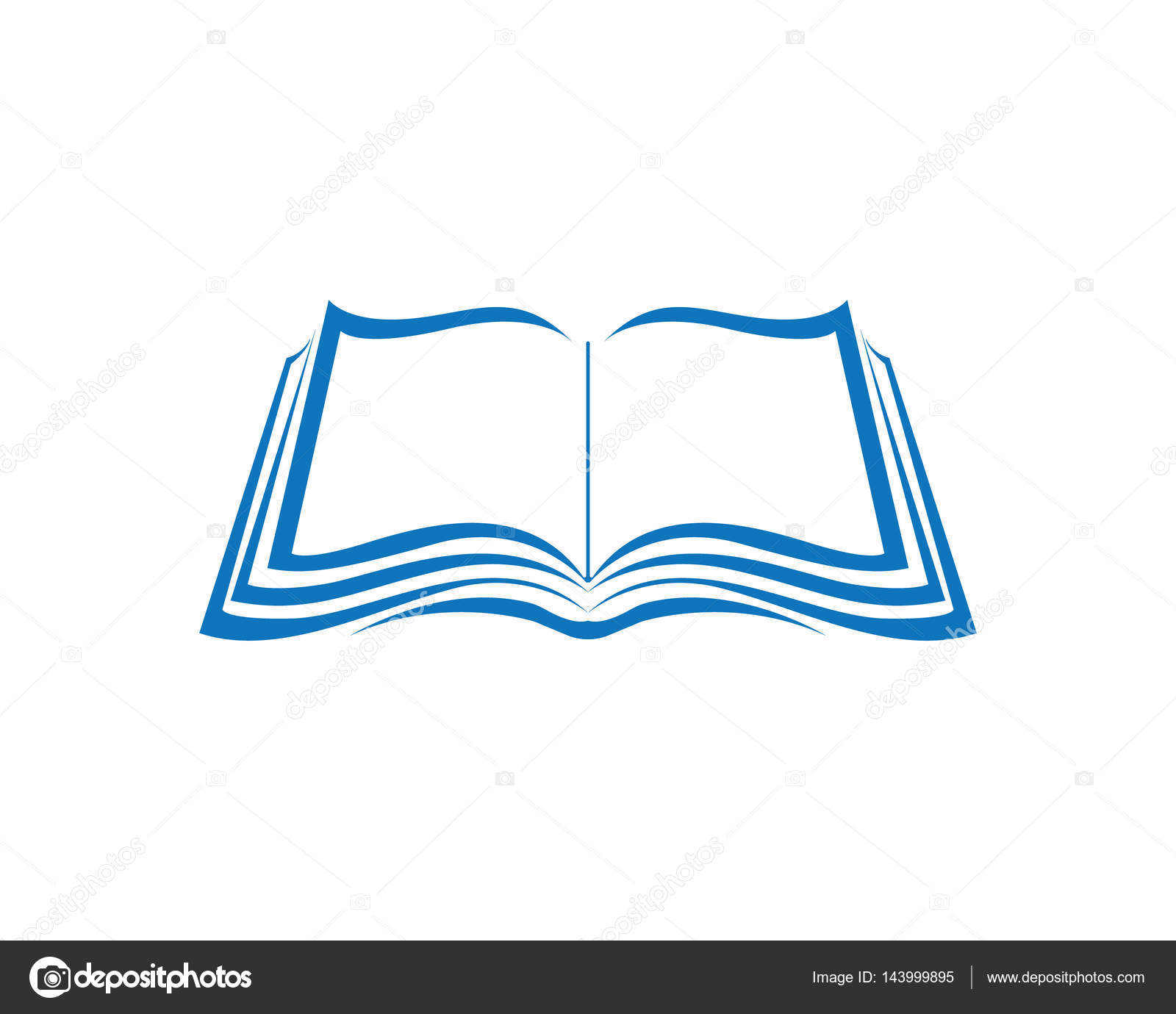 Libro y lectura escritura logo símbolos plantilla — Vector de stock ...