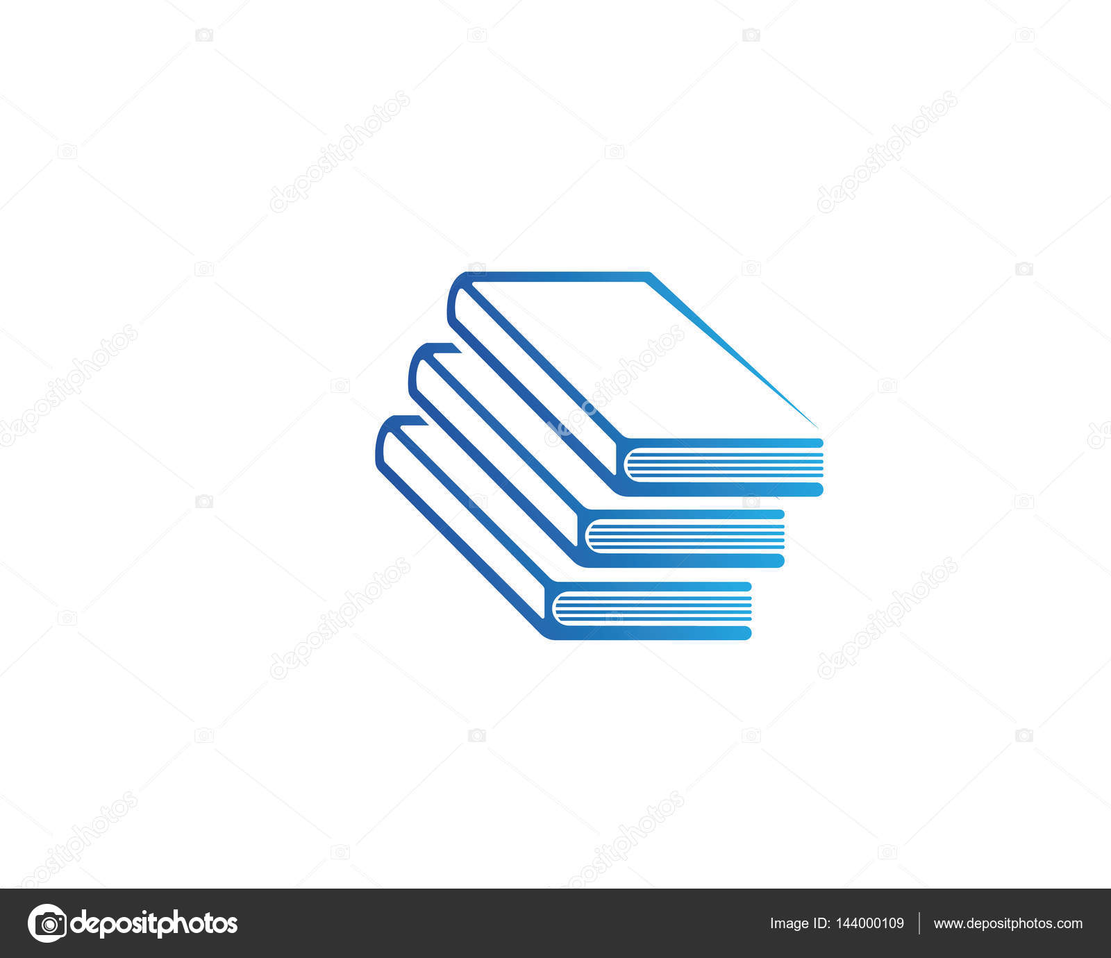 Buch und lesen und schreiben Logo Symbole Vorlage — Stockvektor ...