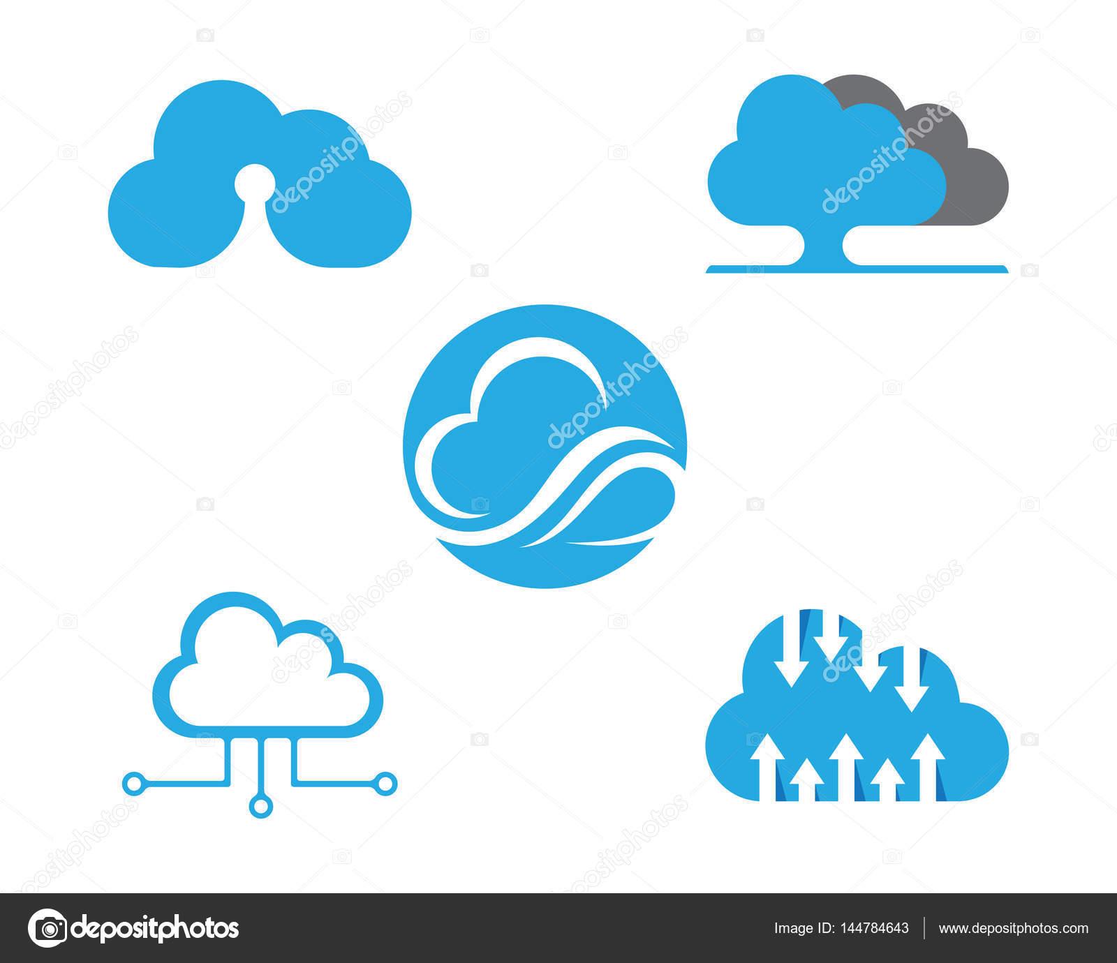 Cloud-Logo und Vorlage — Stockvektor © elaelo #144784643
