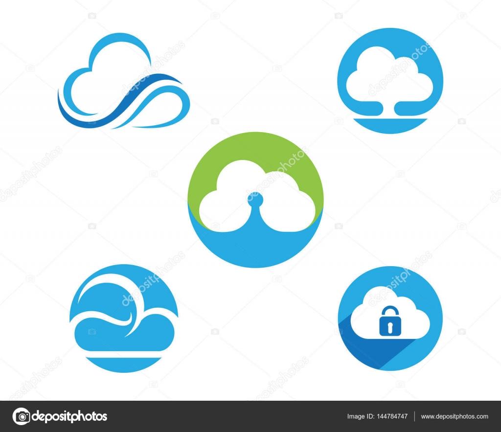 Cloud-Logo und Vorlage — Stockvektor © elaelo #144784747
