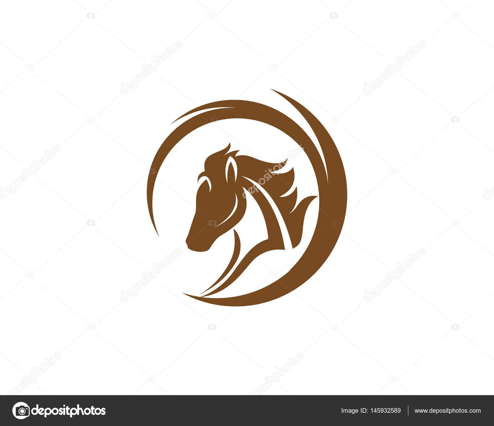 Kopf Pferd Logo und Vorlage Symbole — Stockvektor © elaelo #145932589