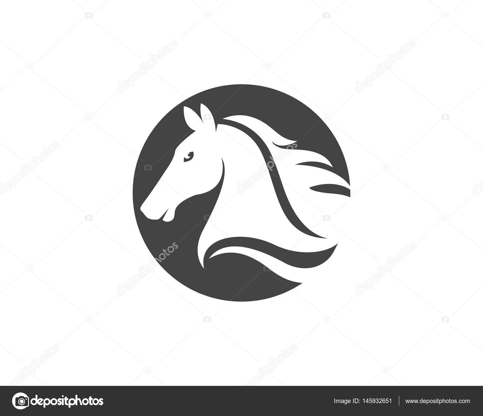 Kopf Pferd Logo und Vorlage Symbole — Stockvektor © elaelo #145932651