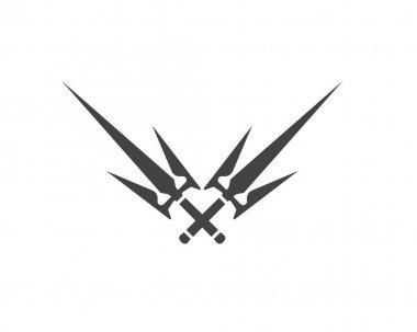 Magic trident logo symbol and template