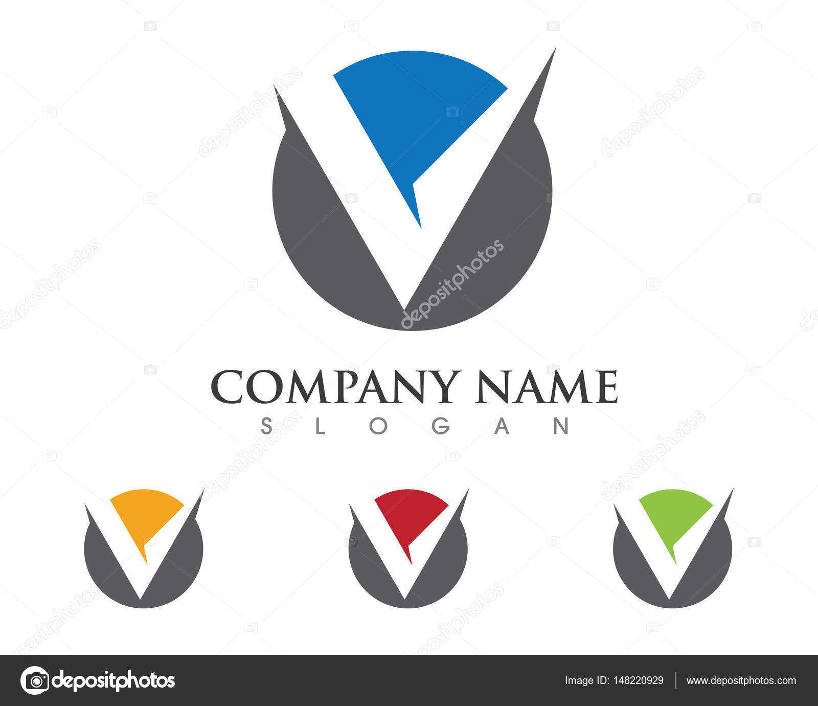 V Letter Logo Signs And Symbols Template Icons Stock Vector