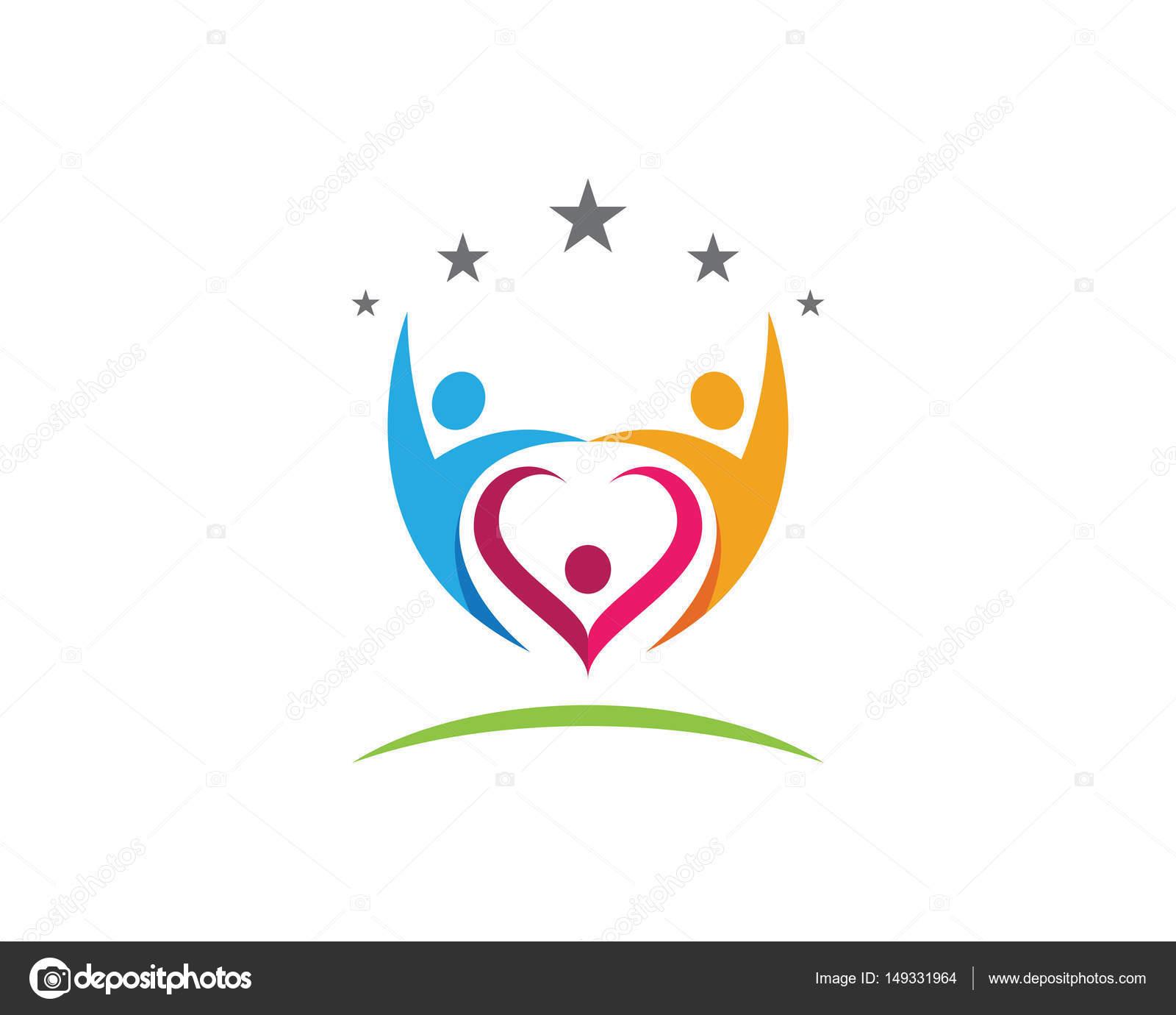 Plantilla de logotipo de vector de árbol gente verde tarjeta de ...